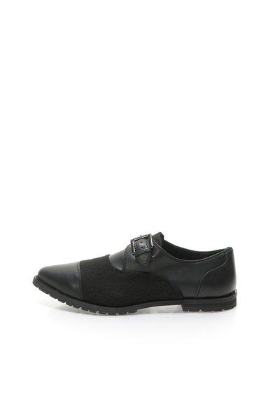 Pantofi monk negri cu varf ascutit de la United Colors Of Benetton