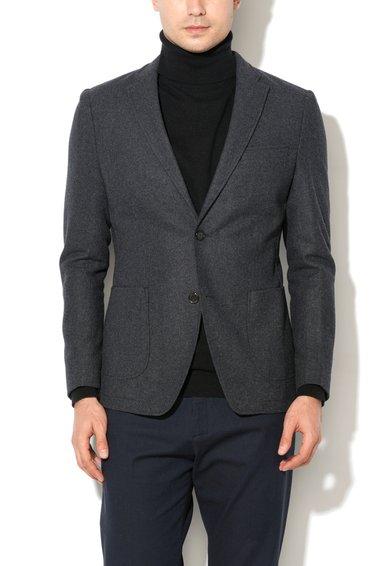 FashionDays.ro: Sacou gri inchis melange din amestec de lana ESPRIT