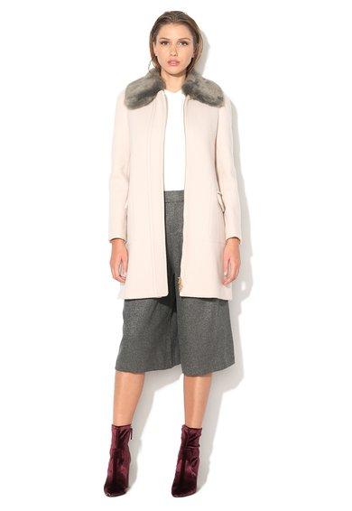 FashionDays.ro: Haina crem din amestec de lana cu guler detasabil Casetta MaxCo