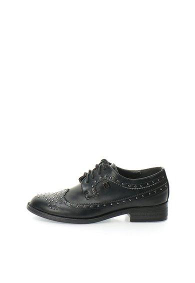 Pantofi derby Oxford negri cu tinte de la Laura Biagiotti