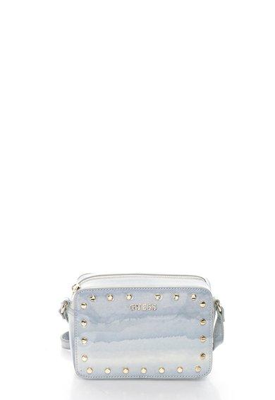 FashionDays.ro: Geanta mica in nuante de albastru cu model marmorat GUESS