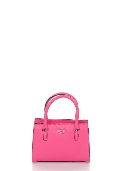 FashionDays.ro: Geanta mica roz aprins cu bareta de umar detasabila Loree GUESS