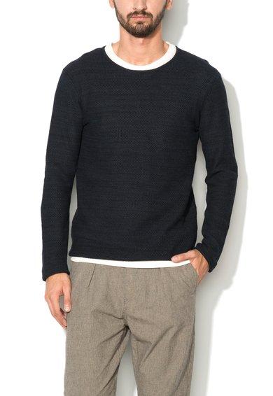 Selected Homme Pulover texturat bleumarin melange cu negru Dane