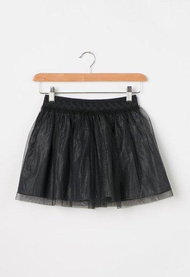 FashionDays.ro: Fusta argintie cu tul negru Federica Pepe Jeans London