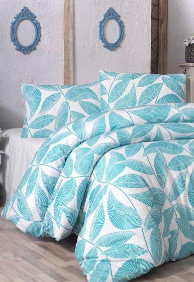 Leunelle Set alb de pat cu imprimeu cu frunze