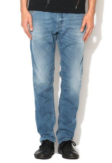 Jeansi jogg albastri cu talie elastica Krooley de la Diesel