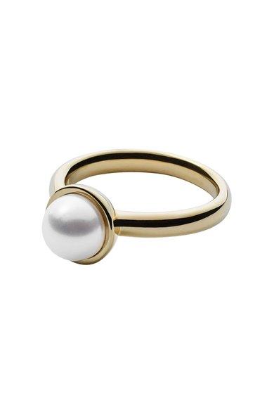 FashionDays.ro: Inel auriu cu perla Skagen