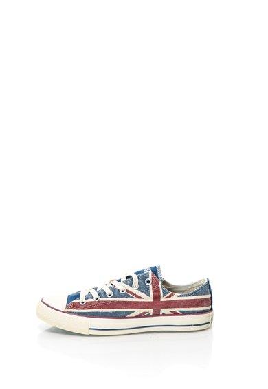 Tenisi multicolori cu imprimeu cu steagul Marii Britanii de la Converse
