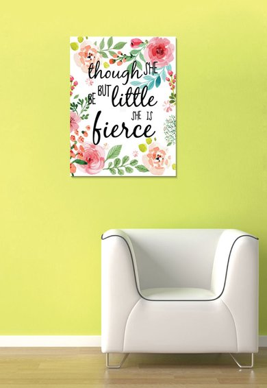 Tablou Quote With Flowers de la 4Decor