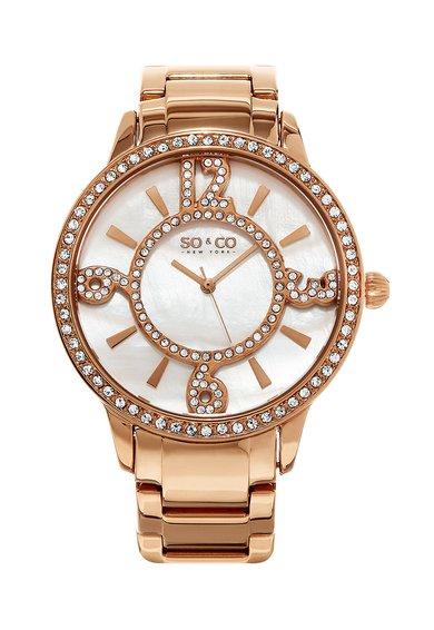 SO&CO New York Ceas auriu rose cu cristale Madison