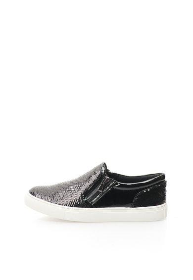 Pantofi slip-on negri cu strasuri Paddock de la Steve Madden