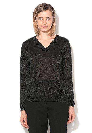 FashionDays.ro: Pulover subtire negru cu insertii din lurex Balou Eleven Paris