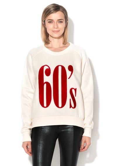 Bluza sport alb unt cu aplicatie rosie Desoix de la Eleven Paris