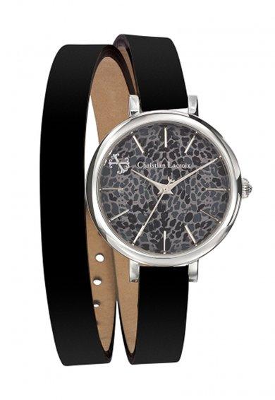 FashionDays.ro: Ceas negru cu o curea infasurabila Christian Lacroix