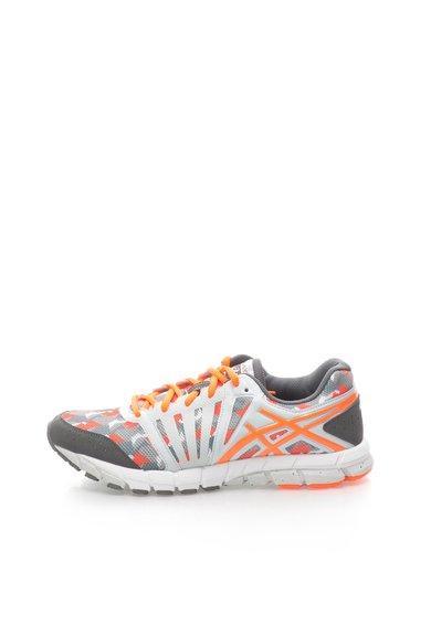 Pantofi sport gri cu oranj neon Gel Lyte de la Asics