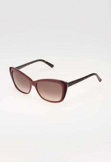 Alexander McQueen Ochelari de soare rosu cu maro tortoise