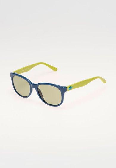 FashionDays.ro: Ochelari de soare verde inchis cu verde lime Lacoste