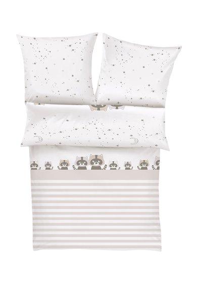 SOliver Set de pat alb cu ecru si model cu ratoni