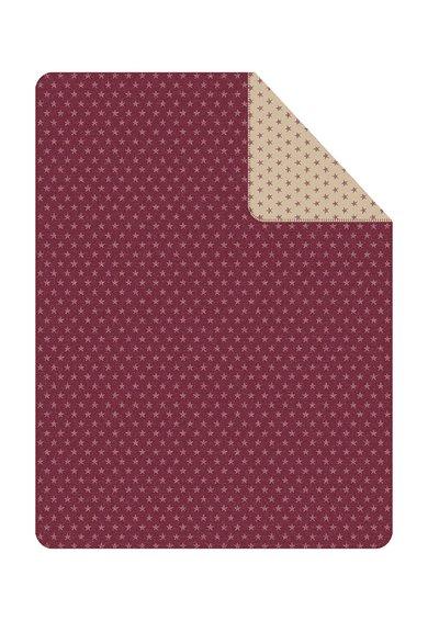 FashionDays.ro: Patura rosu cu bej si imprimeu cu stele Boston Ibena