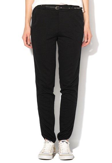 Pantaloni jogger negri cu o curea Thea de la Vero Moda