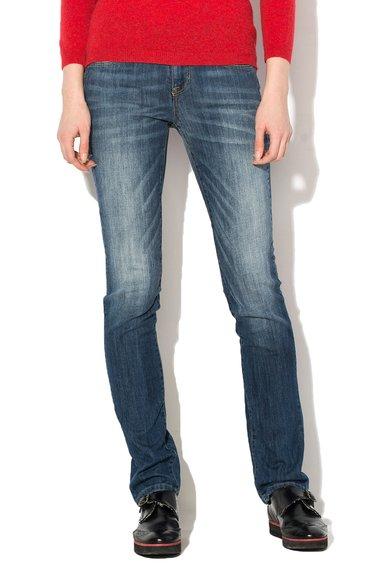 FashionDays.ro: Jeansi albastru inchis cu croiala dreapta United Colors Of Benetton