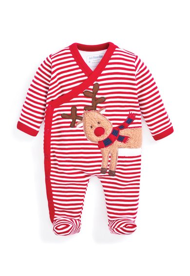 Pijama rosu cu alb cu botosei Reindeer