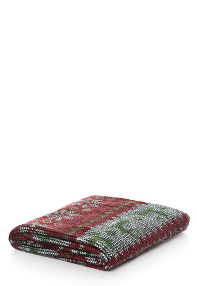 FashionDays.ro: Patura moale rosu cu verde cu model scandinav Undercolors of Benetton
