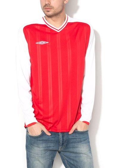 Umbro Bluza rosu cu alb cu decolteu in V Veloce