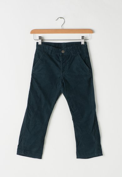 Pantaloni albastru petrol inchis de reiat de la United Colors Of Benetton