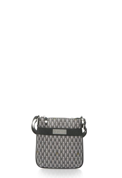 GUESS Geanta crossbody monocroma cu model abstract