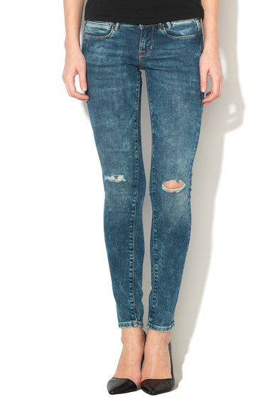 GUESS JEANS Jeansi slim fit albastri Femei image_1