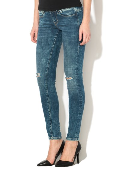 GUESS JEANS Jeansi slim fit albastri Femei image_3