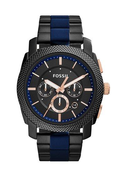 Fossil Ceas cronograf negru Machine