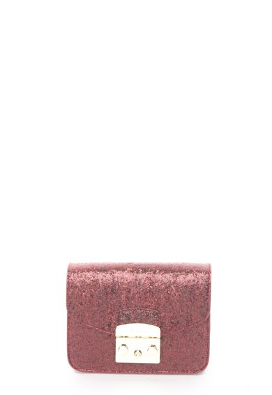Geanta mica crossbody rosu inchis stralucitoare