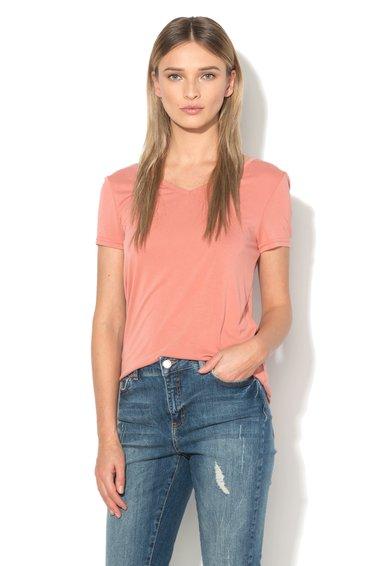 Vero Moda Tricou roz somon cu bretele incrucisate pe spate Caralyn