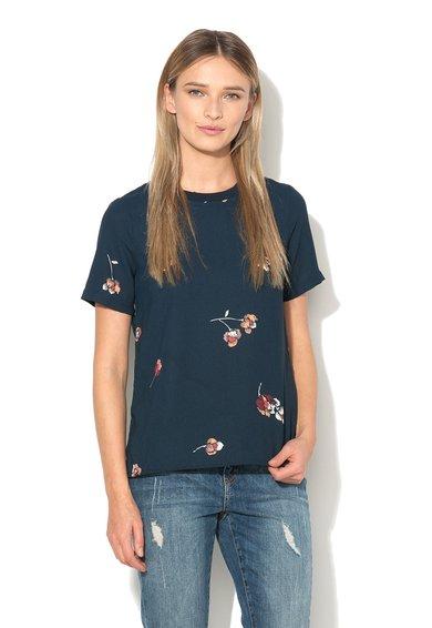 Vero Moda Bluza bleumarin inchis cu imprimeu floral Maja Gabby