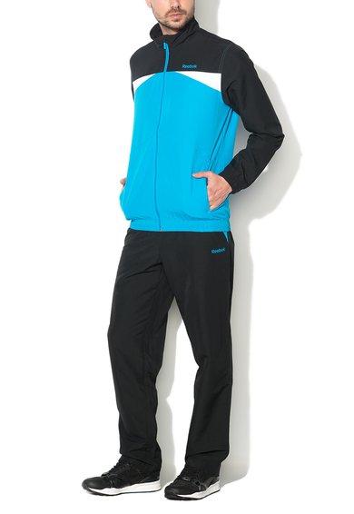 Costum Sport Negru Cu Albastru Tesut Ts