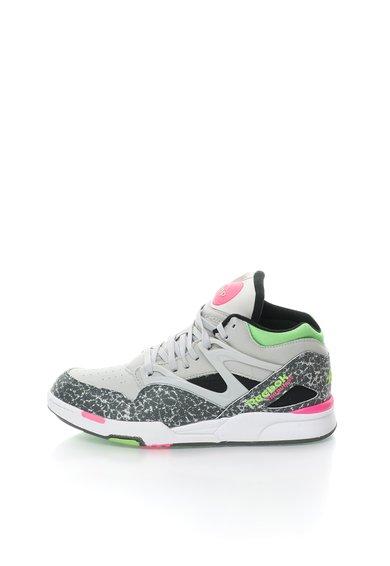 FashionDays.ro: Pantofi sport inalti gri cu negru Pump Omni Lite Reebok