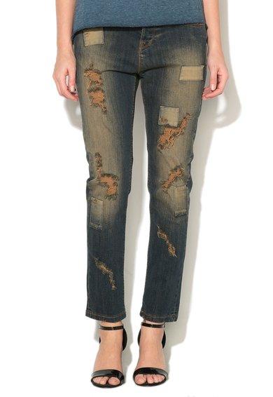 Jeansi conici deteriorati albastru inchis Josh de la Met Jeans
