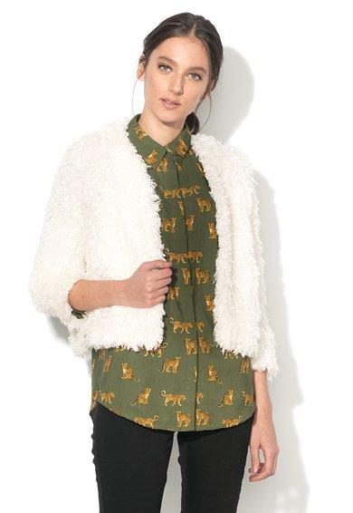 FashionDays.ro: Jacheta pufoasa alb unt BRAVE SOUL
