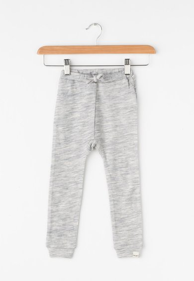 CeLaVi Pantaloni jogger gri melange de lana merinos si bambus