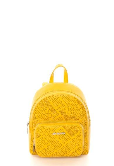 Rucsac galben cu model logo de la Love Moschino