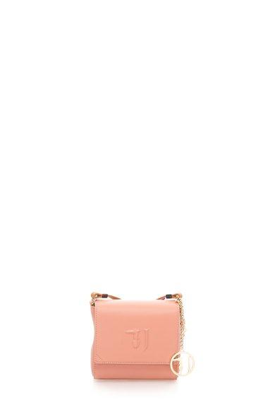 Geanta crossbody mica roz prafuit Ischia de la Trussardi Jeans
