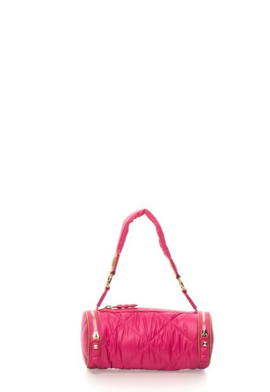 Juicy Couture Geanta tubulara roz bombon matlasata