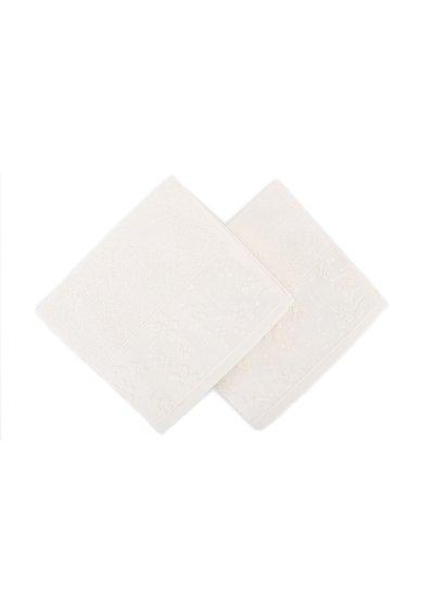 Leunelle Set de prosoape de maini albe cu broderie florala – 2 piese