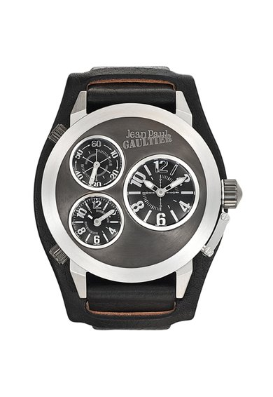 FashionDays.ro: Ceas negru si argintiu cu functii multiple Navy Jean Paul Gaultier