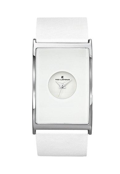 Ceas alb cu argintiu Signature de la Ted Lapidus