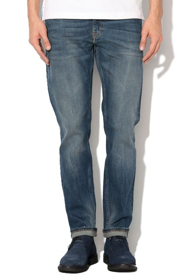 Mustang Jeansi slim fit bleumarin cu aspect decolorat Vegas