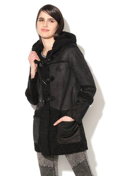 Glamorous Cojoc negru de piele shearling sintetica