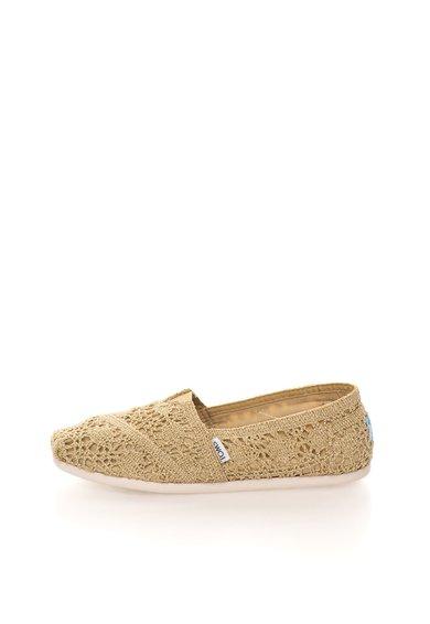 Pantofi slip-on aurii stralucitori de la TOMS